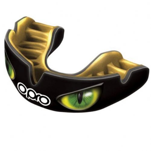 Opro Power-Fit Mouthguard - Eyes Black/Green